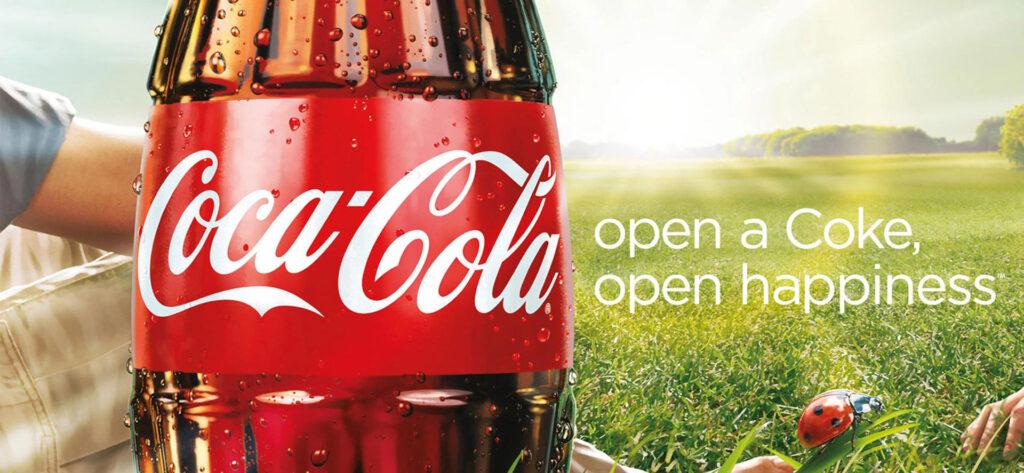 Coca Cola payoff brugt i Shark & Co artikel
